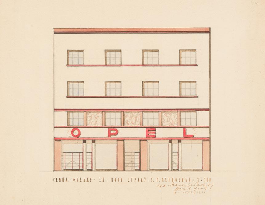 Crtež glavne fasade