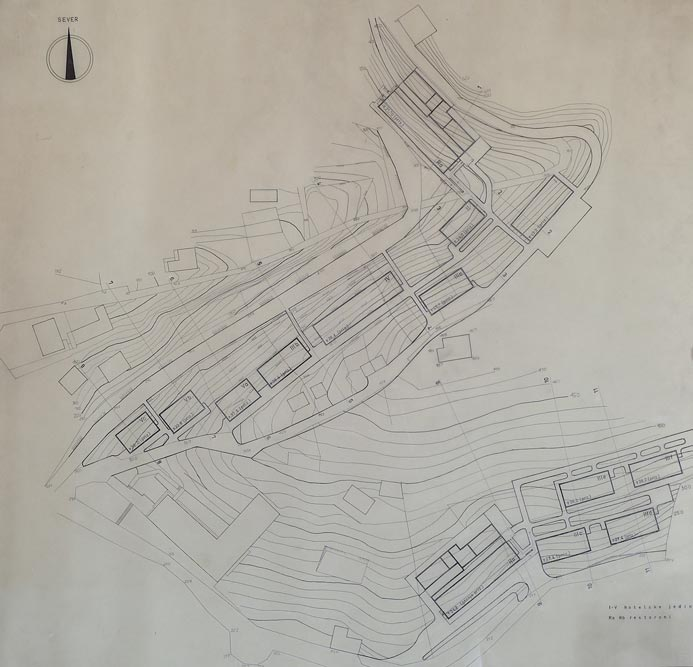 Larger site plan of the tourist complex
