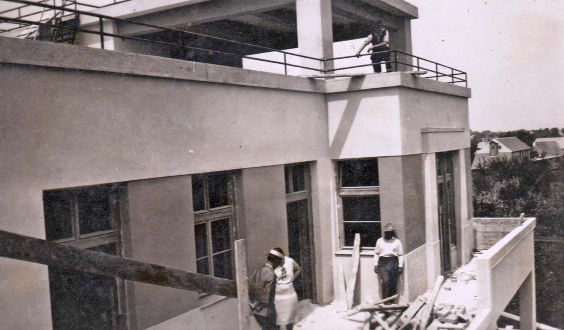 Vila u izgradnji, fotografija iz 1930. godine