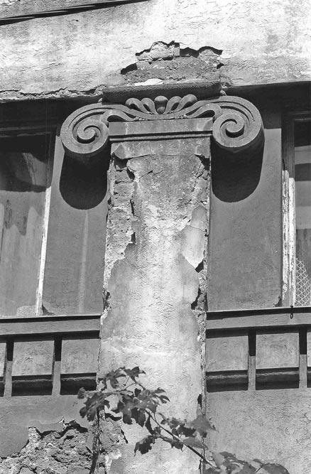 Fasadni pilastar, segment fasade, fotografija