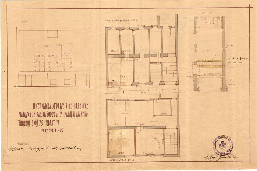 Crteži za prepravku kuće N. Zaborski