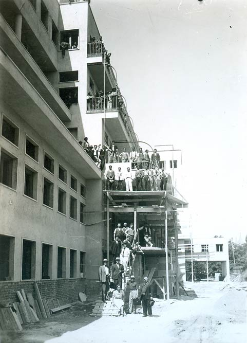 Construction workers during works