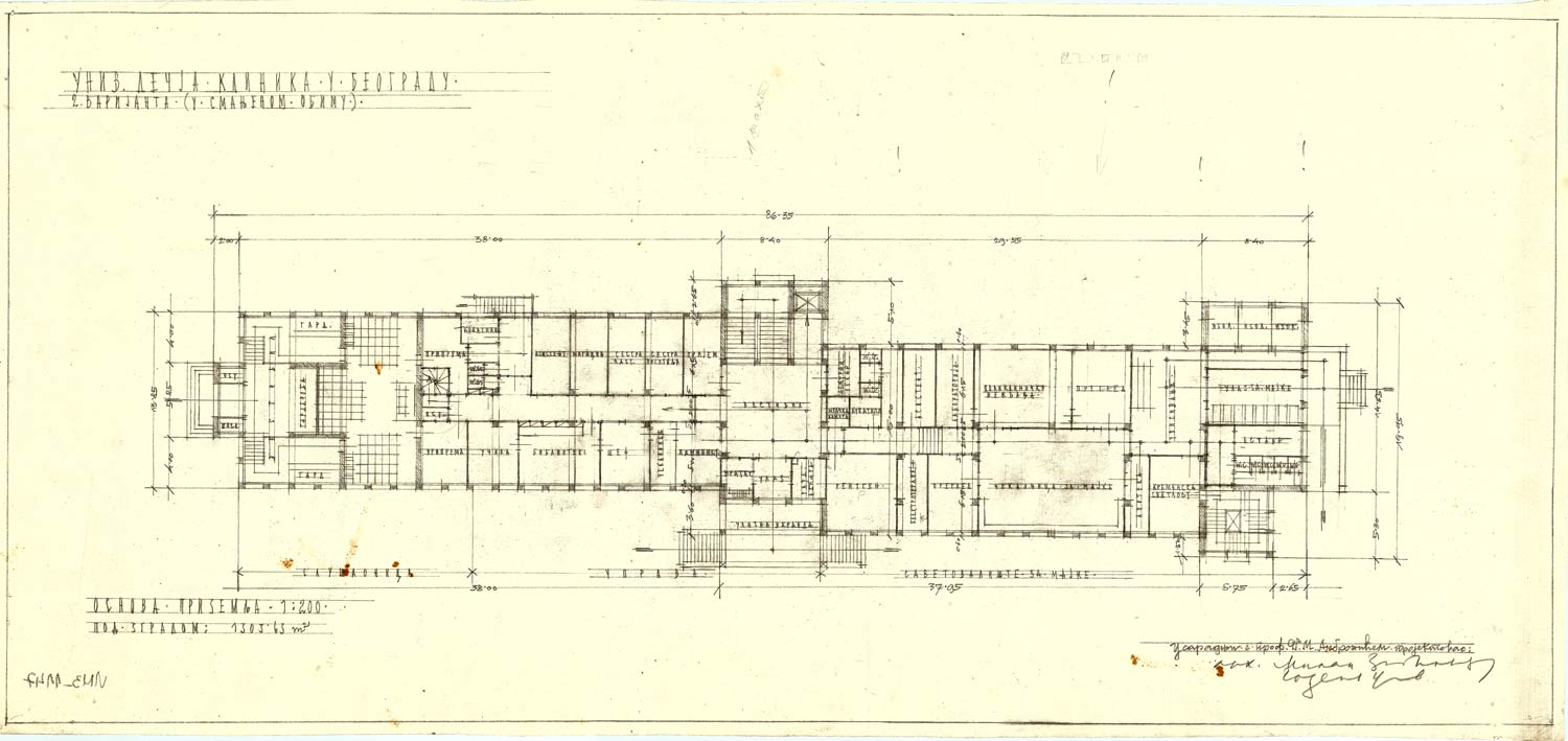 Ground floor plan second variant to a lesser extent