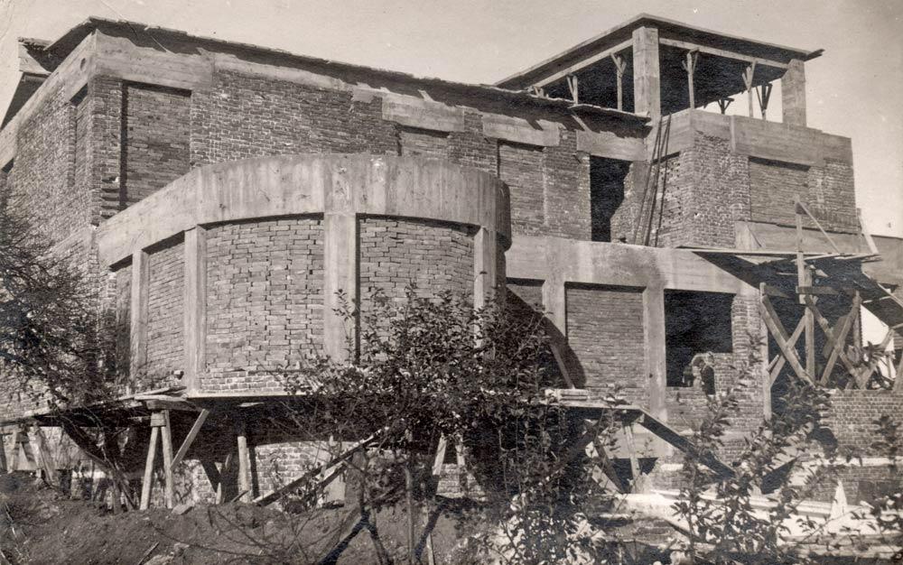 Vila Mozer u izgradnji